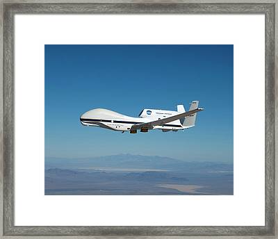Global Hawk Unmanned Aerial Vehicle Framed Print by Nasa/tom Miller