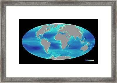 Global Phytoplankton Levels Framed Print