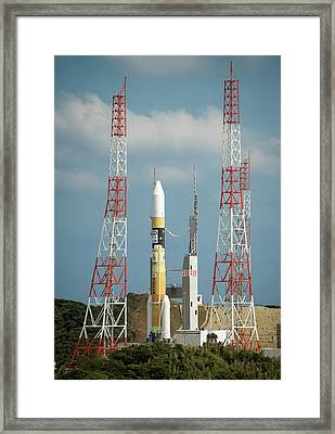 Global Precipitation Measurement Launch Framed Print by Nasa/bill Ingalls