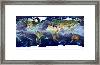 Global Precipitation Framed Print by William Putman/nasa Goddard Space Flight Center