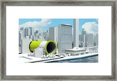 Global Rate Of Natural Gas Consumption Framed Print