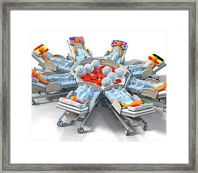 Global Sepsis Treatment Framed Print by Animated Healthcare Ltd