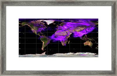 Global Soot Pollution Levels Framed Print by Noaa