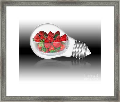 Global Strawberries Framed Print by Kaye Menner