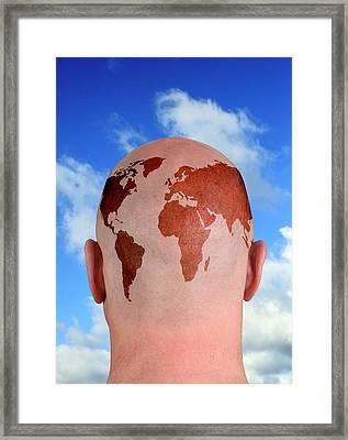 Global Thinking Framed Print