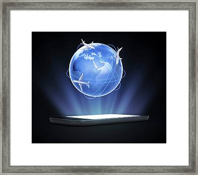 Global Travel Framed Print