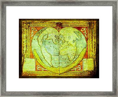 Global Valentine In Urban Street Art Series  Framed Print