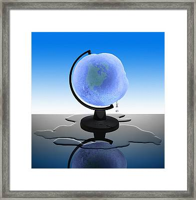 Global Warming, Conceptual Image Framed Print by Science Photo Library