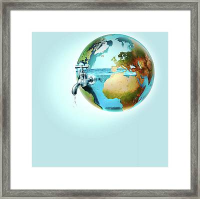 Global Water Supply Framed Print