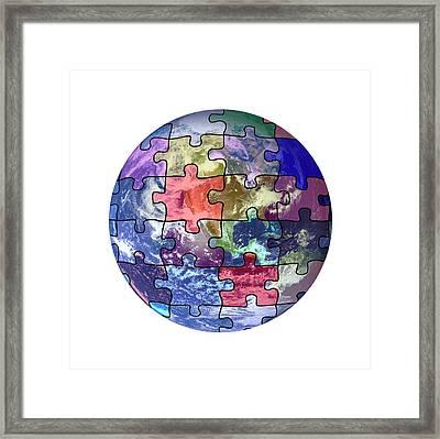 Global Weather Patterns Framed Print by Victor De Schwanberg
