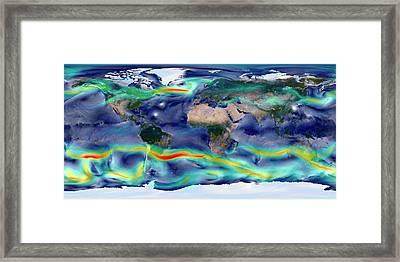 Global Winds Framed Print