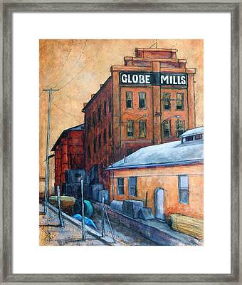 Globe Mills Framed Print by Candy Mayer