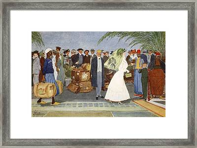 Globe Trotters, From The Light Side Framed Print by Lance Thackeray
