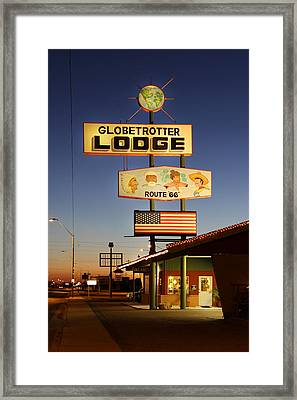 Globetrotter Lodge - Holbrook Framed Print
