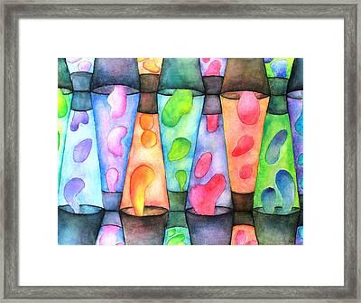 Globs Framed Print by Janet Immordino