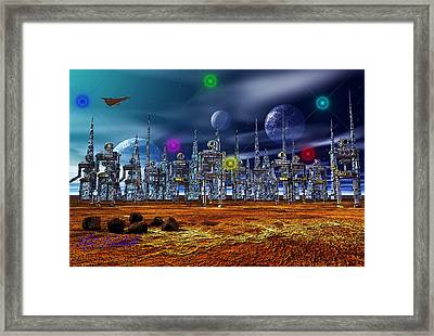 Framed Print featuring the photograph Gloeroxz by Mark Blauhoefer