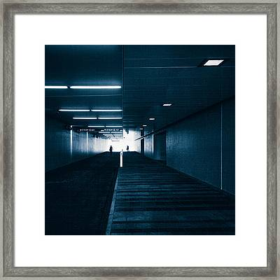 Gloomy Blue Framed Print