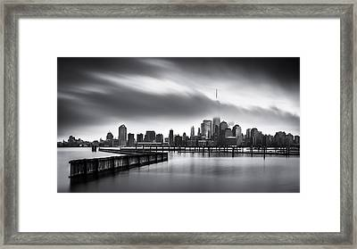 Gloomy Day For The Financial District Framed Print