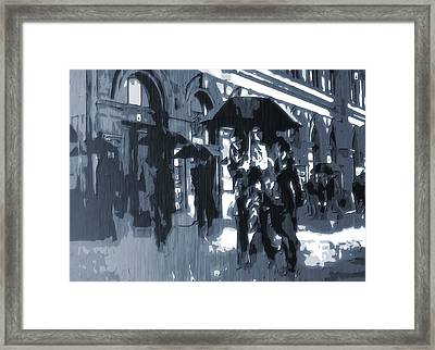 Gloomy Day In The City Framed Print by Dan Sproul