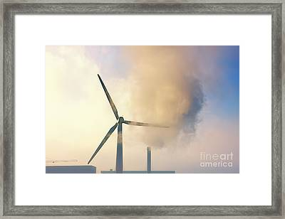 Gloomy Industrial View. Framed Print