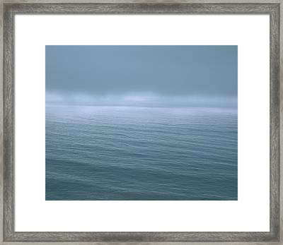 Gloomy Low Clouds Over The Pacific Framed Print by Panoramic Images