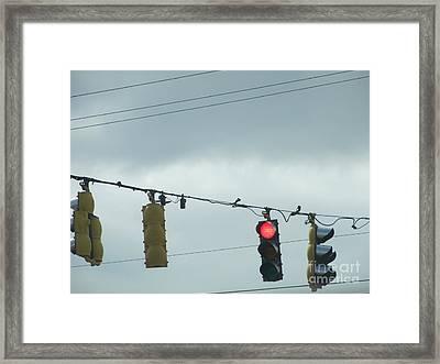 Gloomy Sky Framed Print by Candace Bailey