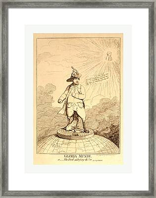 Gloria Mundi, Or The Devil Addressing The Sun  Pare Framed Print by English School
