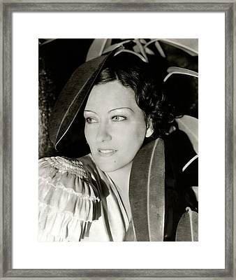 Gloria Swanson In The Film Three Weeks Framed Print by Cecil Beaton