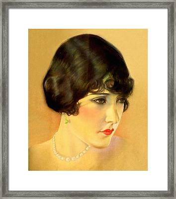 Gloria Swanson Framed Print by Charlie Ross