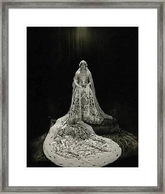 Gloria Swanson Wearing A Costume Framed Print by Edward Steichen