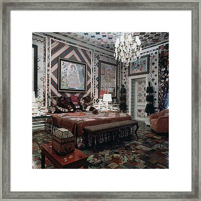 Gloria Vanderbilt's Bedroom Framed Print