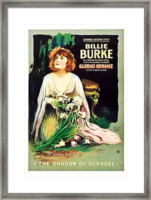 Glorias Romance, Billie Burke, Chapter Framed Print by Everett