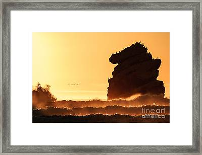 Glorious Afternoon At Morro Bay Framed Print