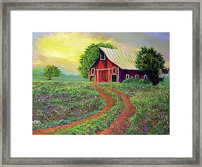 Glorious Day On The Farm Framed Print