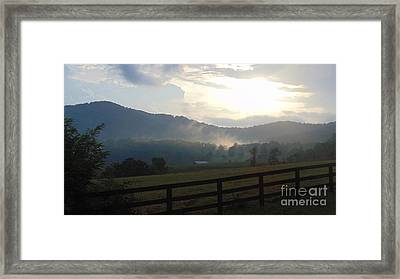 Glorious Evening Sunset  Framed Print