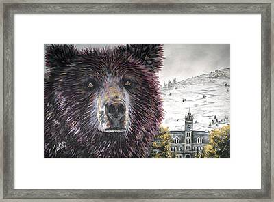 Glorious Griz Framed Print