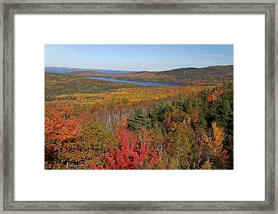 Glorious New England Fall Foliage Colors Framed Print