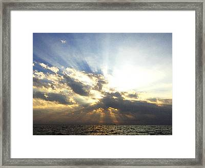 Glorious Rays Of Sunshine Framed Print