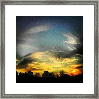 #glorious #sky #strokes Framed Print