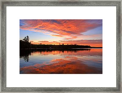 Glorious Sunrise At The Lake Framed Print