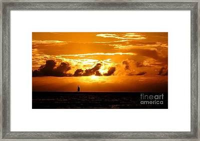 Framed Print featuring the photograph Glorious Sunset by Kristine Merc