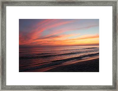Glorious Sunset Framed Print by Vicki Kennedy