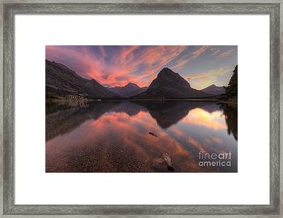 Glorious Swiftcurrent Framed Print by Mark Kiver