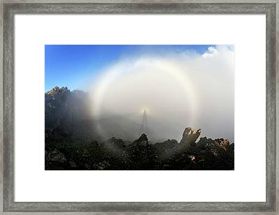 Glory And Brocken Spectre Framed Print