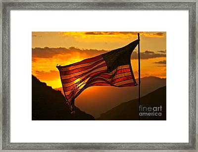 Glory At Sunset Framed Print by Michael Cinnamond