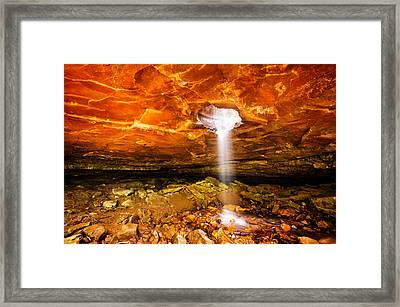 Glory Hole Falls - Northwest Arkansas Framed Print by Gregory Ballos