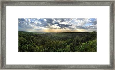 Glory Lights Over The Konza Prairie Framed Print