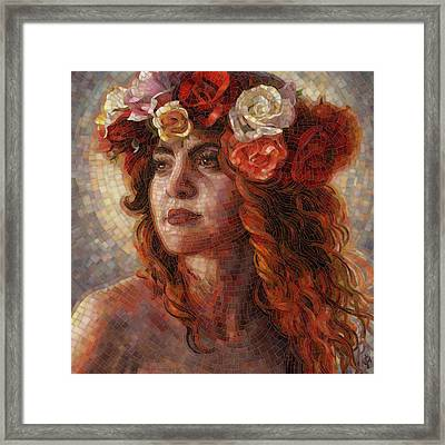 Framed Print featuring the painting Glory by Mia Tavonatti
