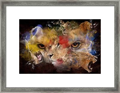Glory Of The Beast Framed Print by Davina Washington