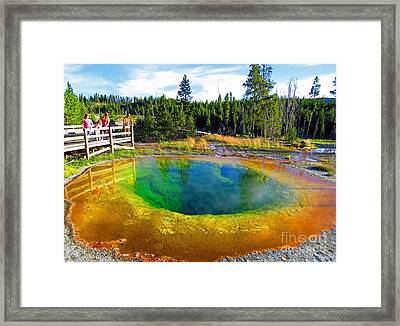Glory Pool Yellowstone National Park Framed Print